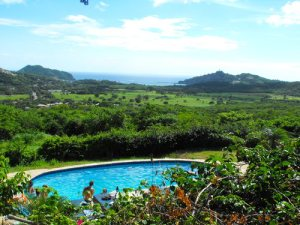 The Naked Tiger Hostel is located a couple of kilometers outside of San Juan del Sur proper and is up on a hill for some crazy good views.