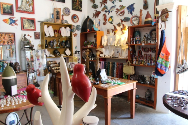 Art and souvenirs in Todos Santos.