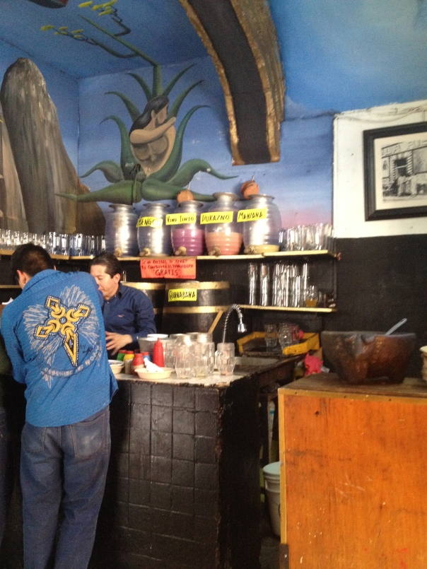 One of many places to grab a glass of pulque around downtown Mexico City.