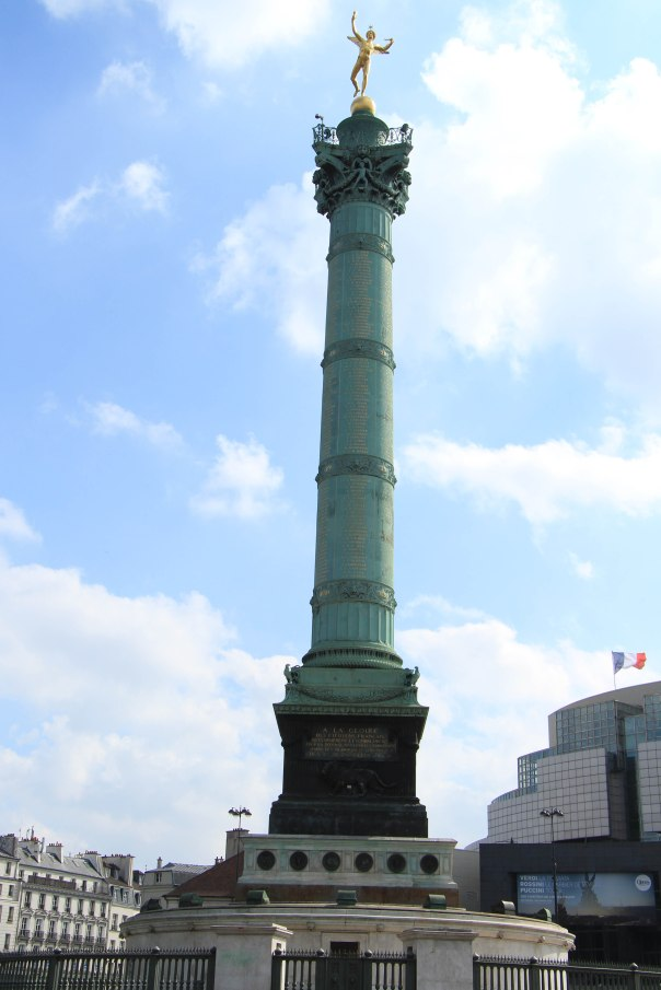 Monument where the Bastille used to stand