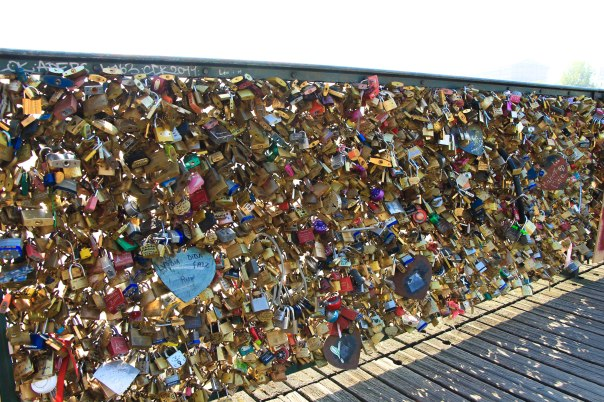 Bridge of love locks.
